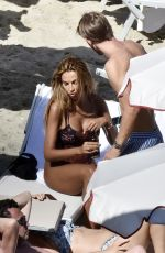 Madalina Ghenea Wearing her sexy swimsuit out on her holiday in Portofino