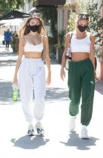 Madison Beer Exiting IL Pastaio after lunch with her friend in Beverly Hills