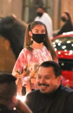 Madison Beer Having dinner with a friend at Saddle Ranch in West Hollywood