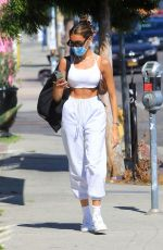 Madison Beer In a crop top out in West Hollywood