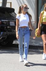 Madison Beer In White top and jeans out in LA