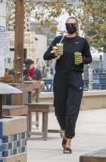 Maria Sharapova Stays hydrated with a variety of drinks in Manhattan Beach