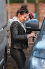 Michelle Keegan Out in Hale Cheshire after eating in The Garden cafe