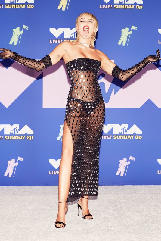 Miley Cyrus Attending the MTV Video Music Awards broadcast in New York