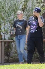 Miley Cyrus Outside a friend