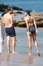 Minnie Driver Enjoying a beach day with her boyfriend in Malibu