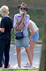Naomi Watts Out in The Hamptons with a puppy pal