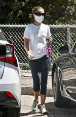 Natalie Portman Going for a hike at Griffith Park in California