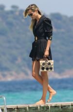 Natasha Poly At the Club 55 Beach in Saint-Tropez, France