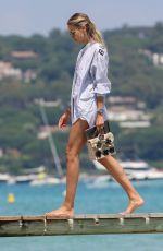 Natasha Poly At the Club 55 in Saint-Tropez