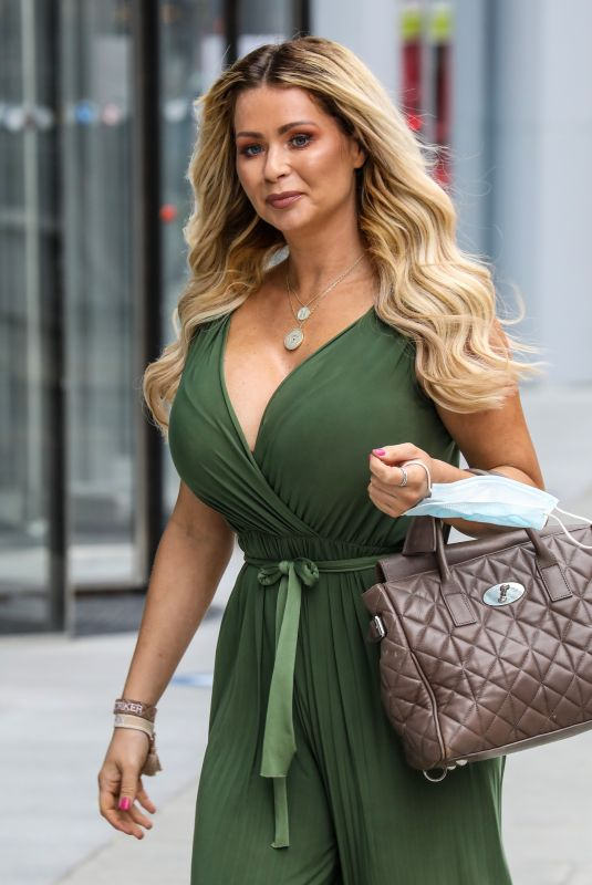 Nicola McLean Seen Departing The Jeremy Vine On 5 Show In London