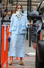 Olivia Palermo Looks stylish as she leaves a business meeting in Manhattan