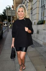 Paige Turley Puts on leggy display as she enjoys night out in Manchester