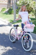 Paris Hilton Out on a bike in Beverly Hills