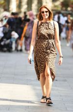 Rezzy Ghadjar Pictured at Heart Dance show in animal print dress in London