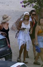 Rita Ora Out for dinner with friends in Ibiza