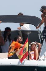 Rita Ora Spotted relaxing on a boat in Ibiza in Spain