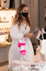 Sarah Jessica Parker Spotted leaving her South St. Seaport shoe store in New York