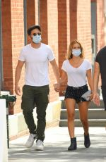 Sebastian Stan & Alejandra Onieva Holding hands while out for a stroll in New York City
