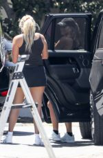 Sofia Richie Arrives a a house after a workout session in Malibu