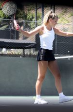 Sofia Richie Playing tennis in Los Angeles