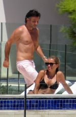 Sylvie Meis Spends the day at the communal pool of a private residential complex in Mallorca, Spain