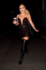 Tallia Storm Enjoying a night out in London
