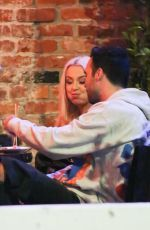 Tana Mongeau and TikTok star Olivia Ponton are seen enjoying a dinner night out at Tao restaurant in West Hollywood