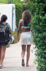 Tayshia Adams Spotted on set for the first time in Palm Springs