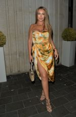 Tyne Lexy Clarson Seen leaving STK restauarnt after enjoying dinner and drinks with friends