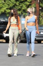 Vanessa Hudgens Dons hippie-inspired workout ensemble while heading to the gym in West Hollywood
