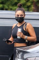 Vanessa Hudgens Shows off her fit figure as she arrives at the gym in Hollywood
