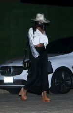 Vanessa Hudgens Shows off her toned abs while leaving Nobu after having dinner with a friend