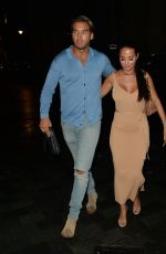 Yazmin Oukhellou, Amber Turner on a double date by co star Liam Gatsby at Roka