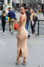 Yazmin Oukhellou On the Set of The Only Way Is Essex in London