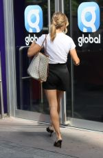 Zoe Hardman In shorts arriving at the Heart Radio Studios in London