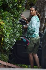 Zoe Saldana Out and about in Malibu