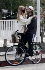 Abby Champion & Patrick Schwarzenegger Goes cycling together in Los Angeles