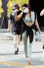 Addison Rae Arrives to workout and leaves with friends at Dogpound in West Hollywood