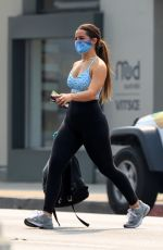 Addison Rae Grabs a bite at Toast after a gym session in West Hollywood