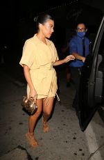 Addison Rae & Kourtney Kardashian Spotted leaving dinner at Craigs in West Hollywood