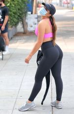 Addison Rae Shows off her toned abs while leaving a private workout in West Hollywood