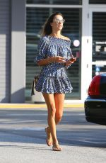 Alessandra Ambrosio At the Brentwood Country Mart in Brentwood