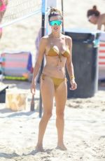 Alessandra Ambrosio In a bikini as she enjoys the day on the beach in Los Angeles
