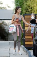 Alessandra Ambrosio Pictured leaving a gym in Los Angeles