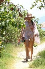 Alessandra Ambrosio Sizzles in a soft pink bikini while on a family vacation in Florianopolis