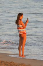 Alessandra Ambrosio Snaps a few pictures of the beautiful sunset in Malibu
