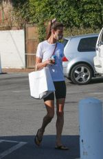 Alessandra Ambrosio Wears her workout clothes as she picks up lunch at Brentwood Country Mart