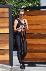 Alessandra Ambrosio Wraps up a private workout session in Los Angeles