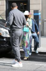 Alex Rodriguez & Jennifer Lopez Leaving a building in New York City
